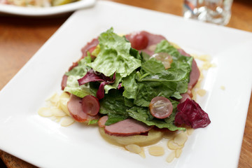 Salad with pineapple and ham