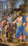 Rome - Jesus healing of paralysed man - Santo Spirito in Sassia