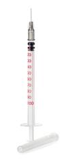 Medical syringe isolated