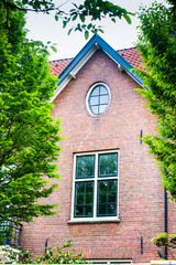 Round And Square Windows In A Dutch House