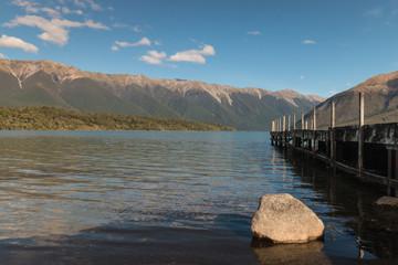 jetty at lake Rotoiti, New Zealand