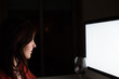 Woman on desktop