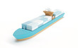 The wooden boat toy - 81576365