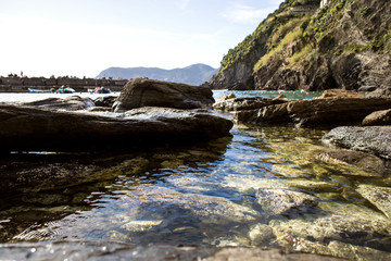 Vernazza, detail of seascape