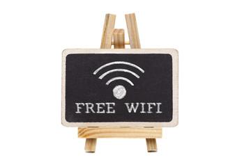 Free wifi written on blackboard