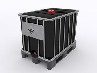 Schwarzer IBC Container