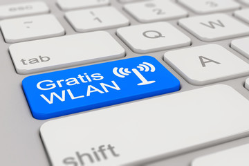 keyboard - Gratis WLAN - blue
