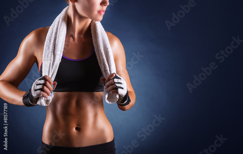 Fitness woman poster