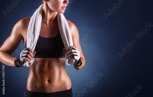 Leinwanddruck Bild Fitness woman