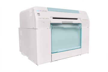 Grey Photo Printer on white background