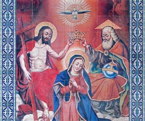 Jerusalem - tiled coronation of Virgin Mary