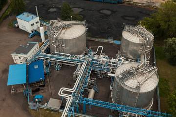 Ölrafinerie Öl Petrochemie Erdgas Luftbild
