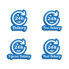 24h delivery symbols set