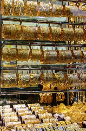 Foto Spatwand Dubai Deira Gold Souk in Dubai
