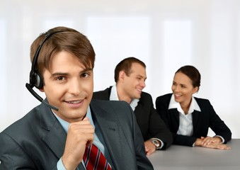 Telephone. Customer Service Workers