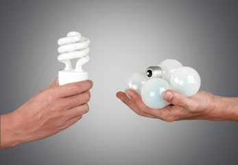Energy. Incandescent for Compact Fluorescent