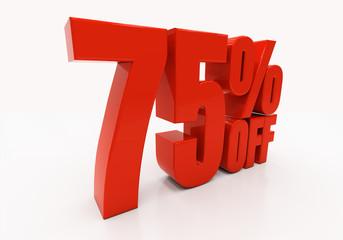 3D 75 percent