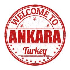 Welcome to Ankara stamp