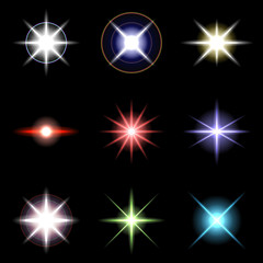 Vector Stars and sparkles - collection of design elements 3