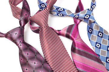 four tie knotted