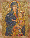 Jerusalem - mosaic of Madonna in Dormition abbey