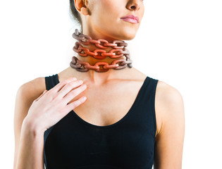 Woman with a chain around her neck