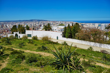 Scenic view to Tangier from Charf hill