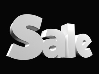 Sale text word black background