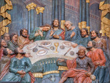 Banska Stiavnica - carved relief of Last supper in Calvary