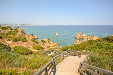 Algarve: Stairs to beach Praia do Camilo, Lagos Portugal