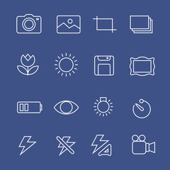 Photography white  icons