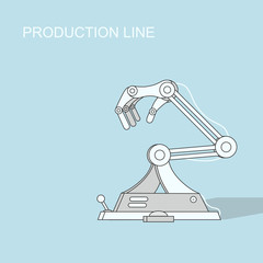 Robotic production line   Manufacturing and machine, automation