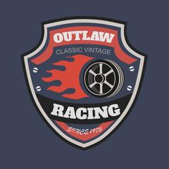 Sport racing typography, t-shirt graphics, s. T-shirt vintage