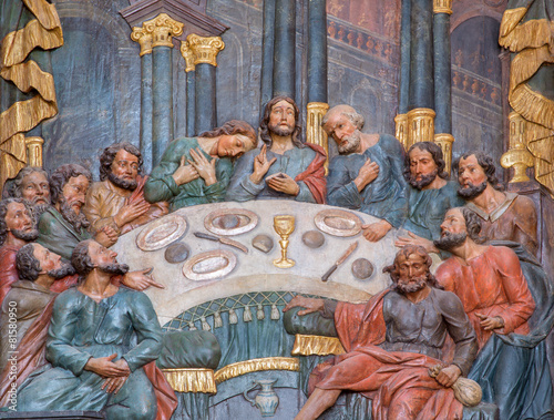 Banska Stiavnica - carved relief of Last supper in Calvary - 81580950