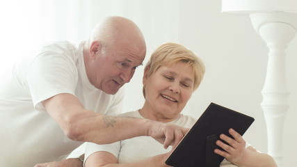 Retired couple spending time together