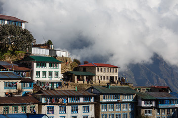 Clouds over Namche Bazar, Nepal