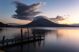 sunset on lake atitlan guatemala