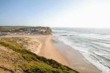 Algarve: Sunset at beach Praia Monte Clerigo, Aljezur Portugal