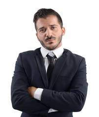 Businessman demoralized