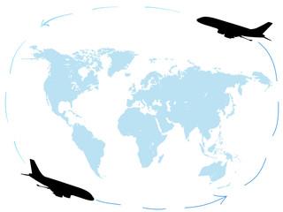 Round-the-world flights