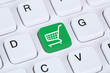 Leinwanddruck Bild - Online Shopping E-Commerce einkaufen im Internet