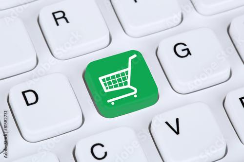 Leinwanddruck Bild Online Shopping E-Commerce einkaufen im Internet