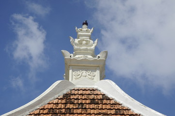 Pinnacle of Peringgit Mosque in Malacca, Malaysia