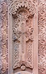 Jerusalem - Armenian cross in vestibule of St. James cathedral