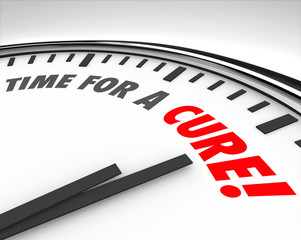 Time for a Cure Clock Prevent Disease Sickness Illness Medical R