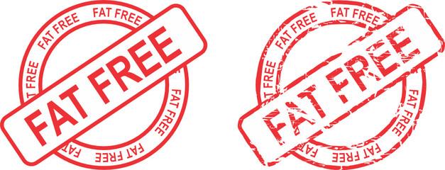 fat free stamp sticker