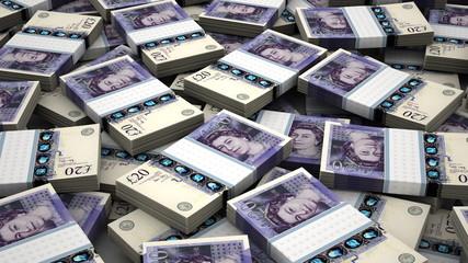 Stack of English Pound