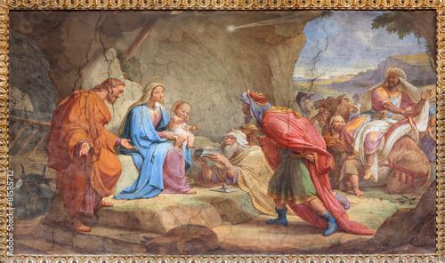 Rome - Adoration of Magi fresco in Basilica di Sant Agostino - 81585712