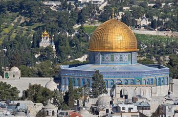 Jerusalem -  Dom of Rock and Mount of Olives