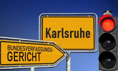 Rotes Licht aus Karlsruhe